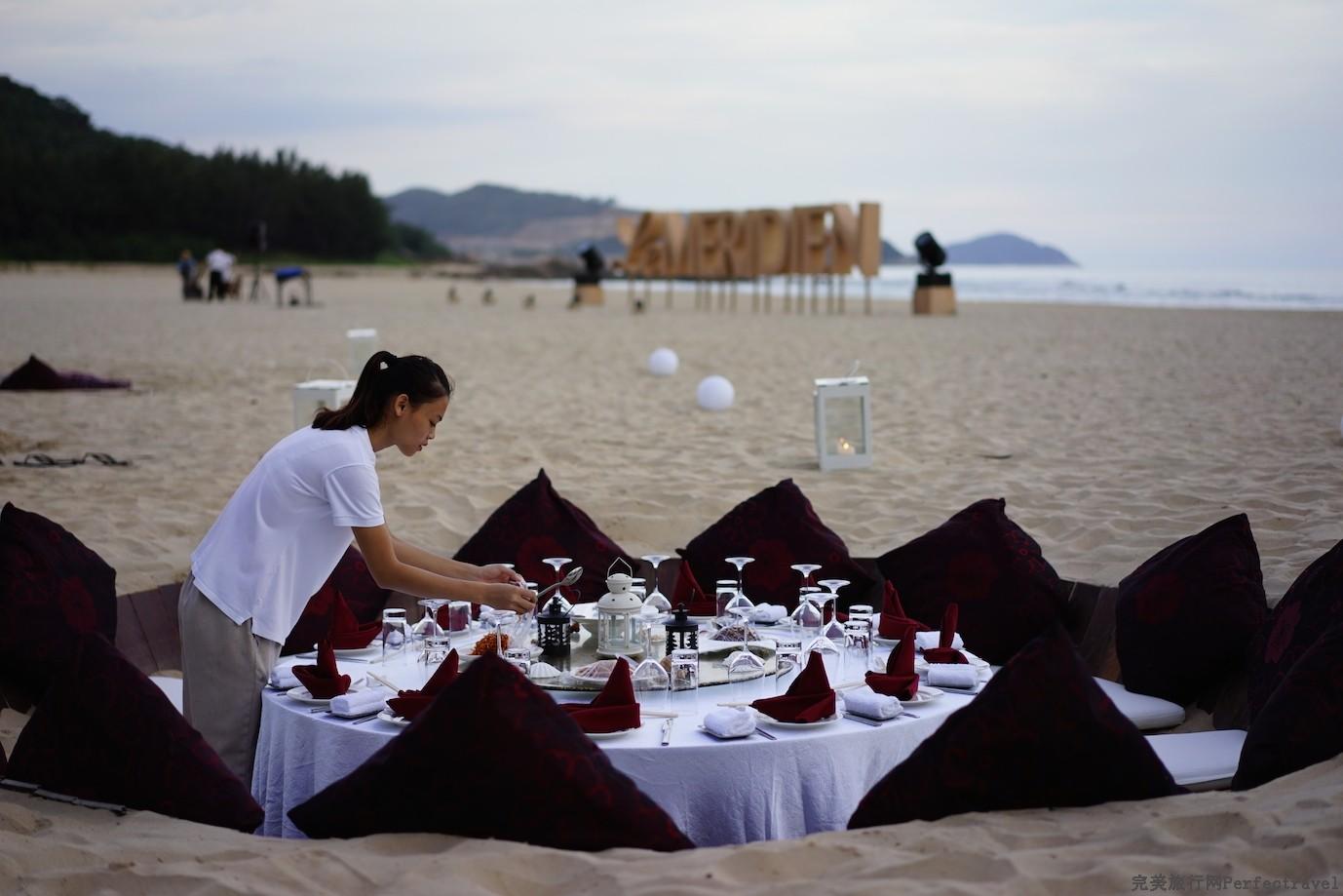 石梅湾艾美度假酒店:可以坐在沙坑里吃浪漫月光大餐的酒店! - 完美旅行Perfectravel - 完美旅行Perfectravel的博客